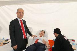 Antalya Adliyesi'nde kan bağışı kampanyası