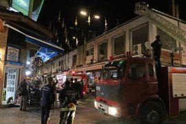 Antalya dönerciler çarşısındaki yangın korkuttu