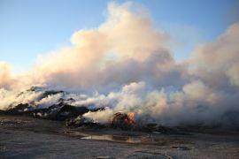 Çöp toplama merkezindeki yangın kontrol altına alındı