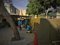 Oba İlkokulu'nun çevre duvarı yenileniyor
