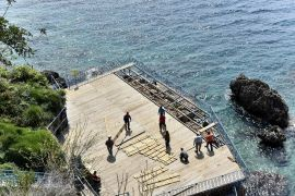 Falez plajlarında yaz hazırlıkları başladı