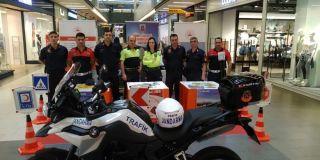 Jandarmadan AVM'de trafik eğitimi