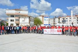 Korkuteli'nde 100'üncü Yıl Şehir İçi Bisiklet Turu