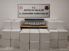 Antalya'da 675 litre etil alkol ve 81 adet içki aroması ele geçirildi