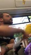 Halk otobüsü içerisinde 'maske' tartışması karakolda son buldu