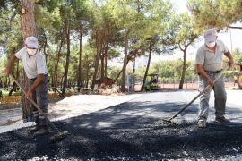 Hayat Park'ın yollarına sıcak asfalt