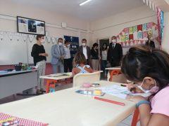 Başkan Topaloğlu'ndan ilkokula ziyaret