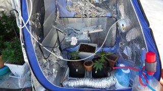 Evini uyuşturucu imalathanesine dönüştüren şahıs yakalandı